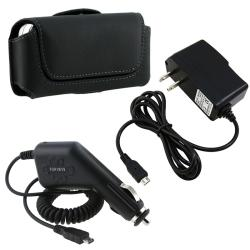 Leather Case/ Car and Travel Charger for Samsung Flight II A927