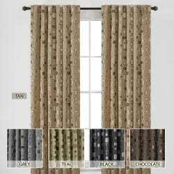 Madison Park Modern Squares 84-inch Curtain Panel