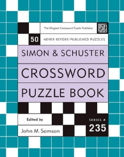 Simon and Schuster Crossword Puzzle Book (Spiral bound)