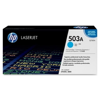 HP 503A (Q7581AG) Cyan Original LaserJet Toner Cartridge for US Gover