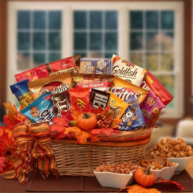 Greetings to Fall Snack Attack Gift Basket
