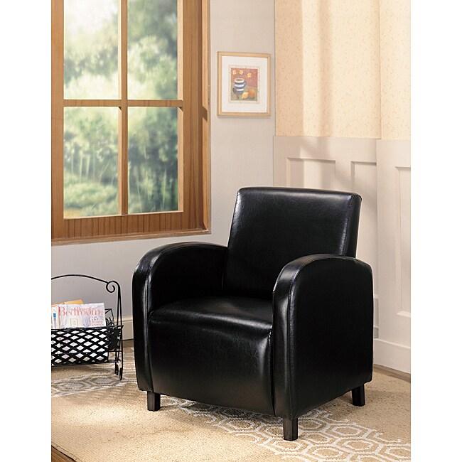 Accent Dark Brown Leather Club Chair