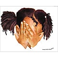 Contemporary Ed Wade 'Peek A Boo' Art Print