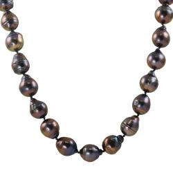 Pearls for You Silver Dyed Baroque FW Pearl 18-in Strand Necklace (10.5-11.5 mm)