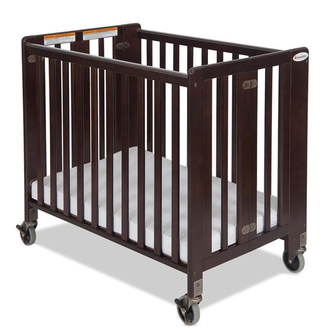 Foundations HideAway Folding Fixed-Side Full-Size Crib in Antique Cherry