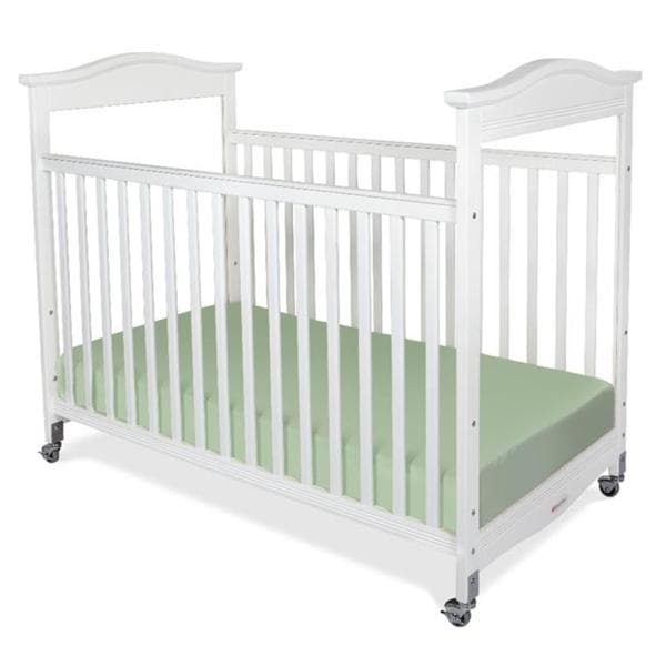 Foundations Biltmore Compact Fixed Side Clearview Crib in White