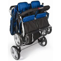 Foundations Quad LX Four-Passenger Stroller in Regatta