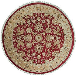Hand-knotted Timeless New Zealand Hard Twist Wool Rug (8' Round)
