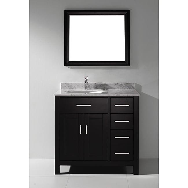 Chloe 36 inch espresso carrera vanity set overstock shopping great deals on s bathe for 36 inch espresso bathroom vanity
