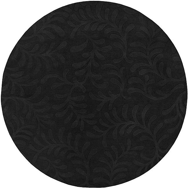 Candice Olson Loomed Hand-crafted Haddington Floral Pllush Wool Rug (8' Round)