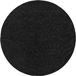 Candice Olson Loomed Hand-crafted Haddington Floral Pllush Wool Rug (8' Round)