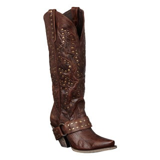 Lane Boots Women's 'Stud Rocker' Leather Cowboy Boots