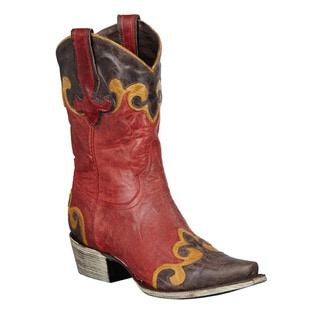 Lane Boots Women's Red 'Dakota' Cowboy Boots