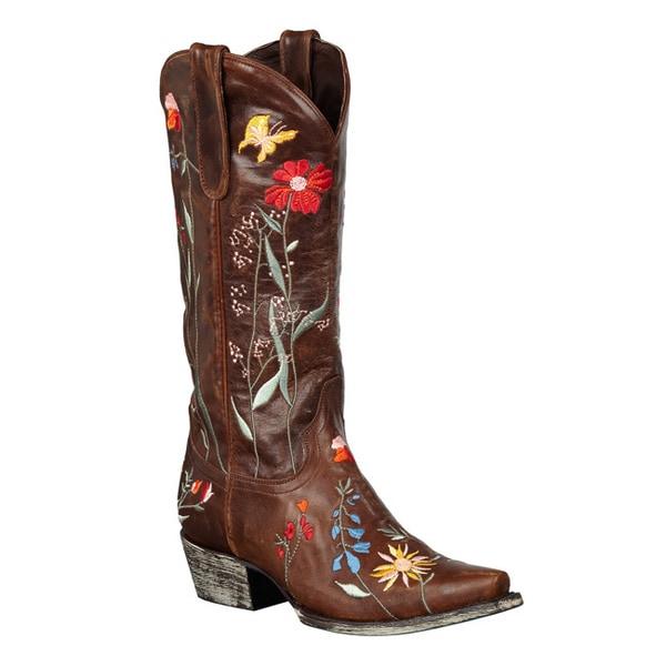 Lane Boots Women's 'Garden' Mid-Calf Cowboy Boots
