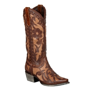 Lane Boots Women's Brown/ Tan 'Poison' Cowboy Boots