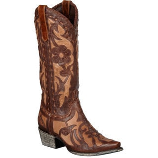 Lane Boots Women's Brown/ Tan 'Poison' Cowboy Boots