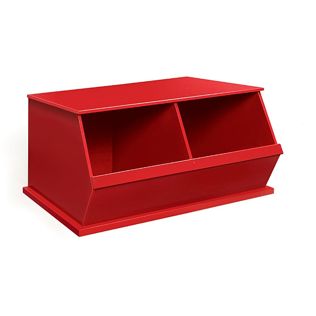 Badger Basket Two Bin Stackable Storage Cubby in Red at Sears.com