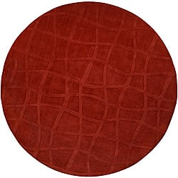 Candice Olson Loomed Genevieve Abstract Plush Wool Rug (8' Round)