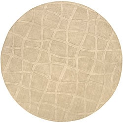 Candice Olson Loomed Garibaldi Abstract Plush Wool Rug (8' Round)