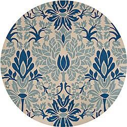 Hand-hooked Douglas Indoor/Outdoor Floral Rug (8' Round)