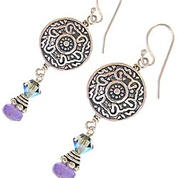Misha Curtis Vintage Amethyst and Crystal Earrings