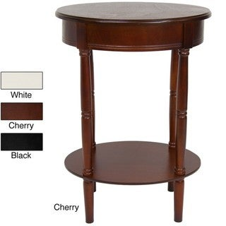 Wood 26-inch Classic Oval Lamp Table (China)