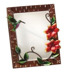 Large Metal Hummingbird Wall Mirror