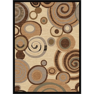 Flora Collection Contemporary Ivory/Multi Rug (5'3