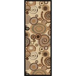 Flora Collection Ivory/ Multi Runner Rug (2'7 x 7'3)