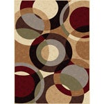 Flora Collection Beige/ Multi Rug (7'10 x 10'3)