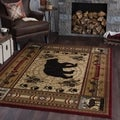 Natural Collection Red/ Ivory Area Rug (5'3 x 7'3)