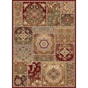 Infinity Collection Beige Area Rug (5'3 x 7'3)