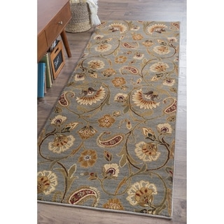 Infinity Collection Blue Area Rug (2&#39;7 x 7&#39;3)