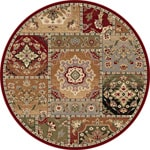 Infinity Collection Beige Area Rug (5'3 Round)