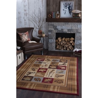 Natural Collection Beige/ Multi Rug (5'3 x 7'3)