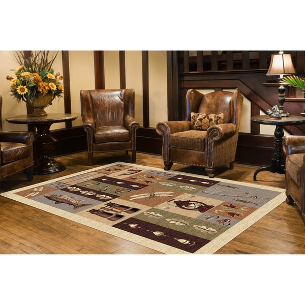 Alise Natural Collection Ivory/ Multi Rug (7'10 x 10'3)