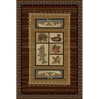 Natural Collection Brown Rug (7'10 x 10'3)