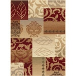 Infinity Collection Red Polypropylene Area Rug (7'10 x 10'3)