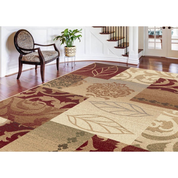 Alise Infinity Red Area Rug (7'10 x 10'3)