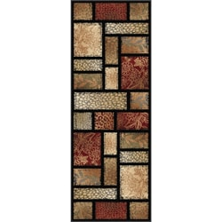 Infinity Collection Brown Area Rug (2'7 x 7'3)
