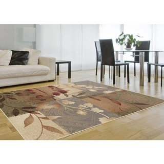 Infinity Collection Transitional Blue Area Rug (7'10