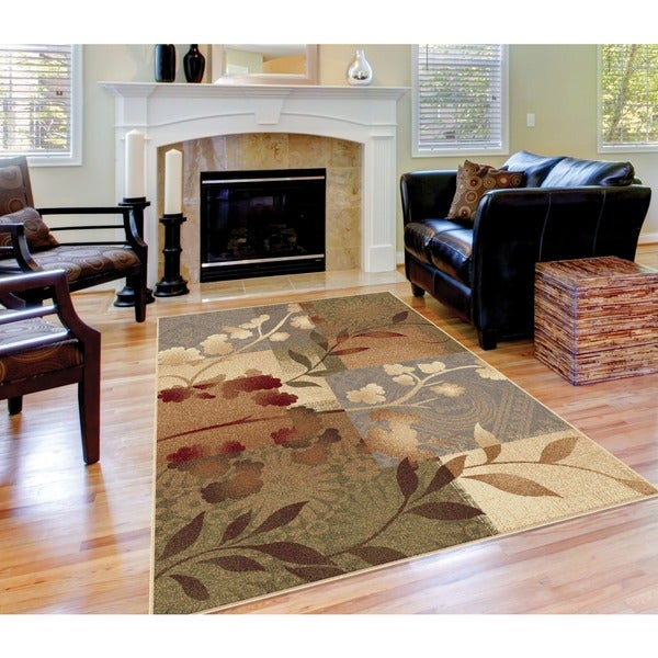 "Infinity Collection Transitional Blue Area Rug (7'10"" x 10'3"")"