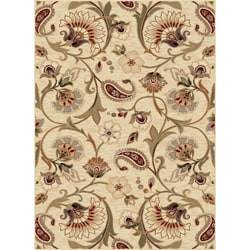 Infinity Collection Ivory/ Beige Area Rug (5'3 x 7'3)