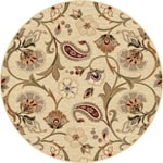 Infinity Collection Ivory/ Beige Area Rug (5'3 Round)