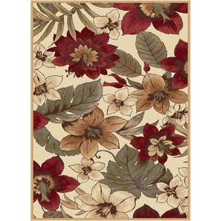 Infinity Collection Ivory Area Rug (5'3 x 7'3)