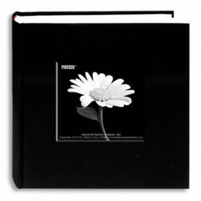 Pioneer Photo Albums Deep Black Fabric Frame Photo Album (4' x 6')
