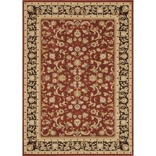 Primeval Paprika/ Coffee Oriental Rug (11'2 x 14'6)