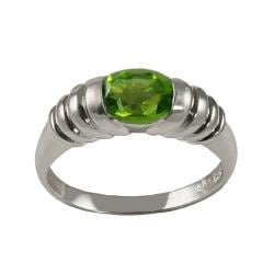 Gems For You Sterling Silver Peridot Corrugated Ring