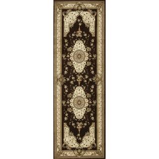 Primeval Coffee/ Ivory Oriental Rug (2'8 x 7'7)