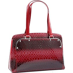 Sophisticated Dasein Patent Leatherette Snakeskin Shoulder Bag